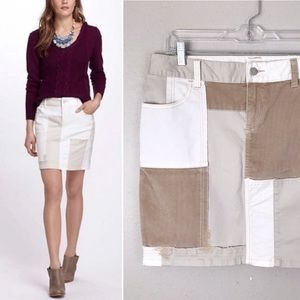 Anthropologie Pilcro Corduroy Patchwork Skirt 29